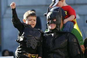 Dressed as Batkid, Make-A-Wish recipient Miles Scott spent the day fighting crime as San Francisco was turned into Gotham City, Friday. Scott, a 5-year old leukemia patient, had his wish fulfilled with the help of Make-A-Wish Foundation, San Francisco police chief Greg suhr and Mayor Ed Lee.